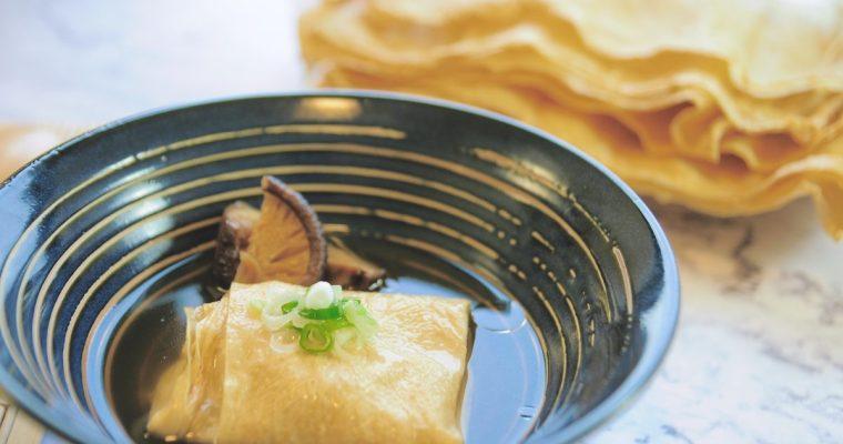 夢幻食材之太陽豆皮:日式豆皮清湯
