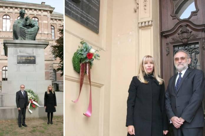 Bugarska veleposlanica položila vijence u čast Strossmayera i Račkog