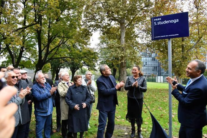 Radovi na Parku 5. studenoga u povodu obilježavanja Svjetskog dana romskog jezika