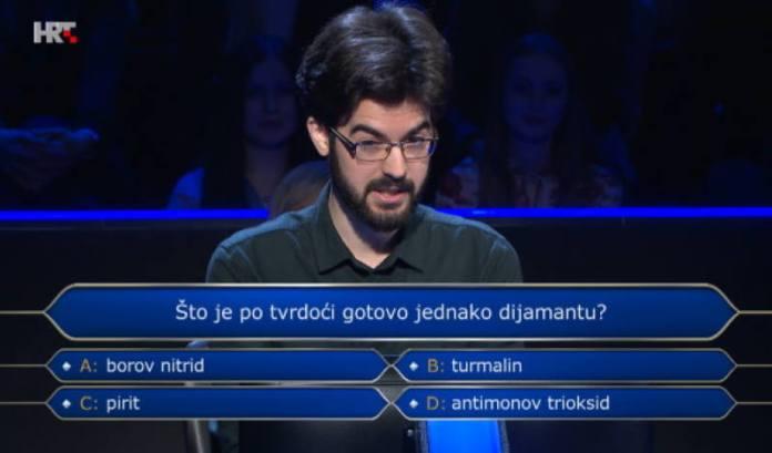 Nije osvojio milijun, ali je ostavio sjajan dojam, sve do 13. pitanja
