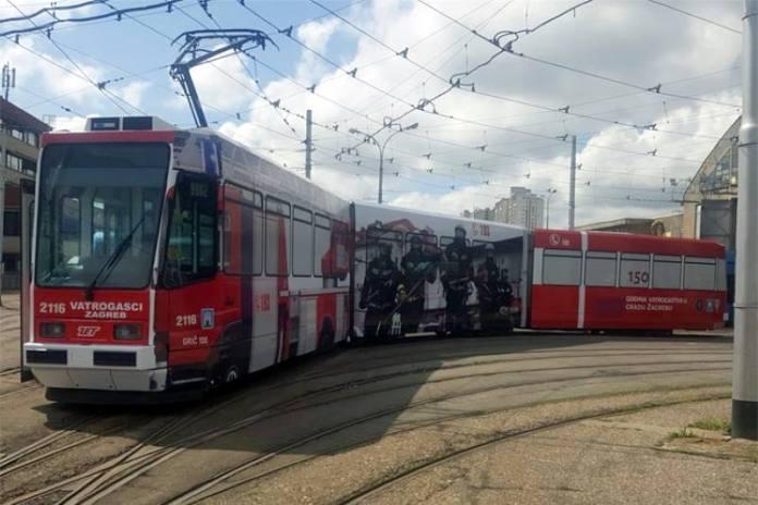 """U ČAST ZAGREBAČKIM VATROGASCIMA: Od danas je u prometu prigodno oslikana """"sedmica"""""""