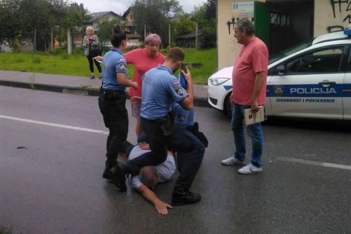 TRNJANI OBJAVILI SNIMKU: Pogledajte kako je uhićen čovjek koji je spasio Trnje od poplave!