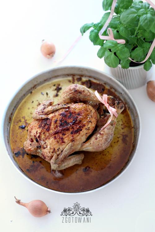 kurczak pieczony z czosnkiem i cebula 3
