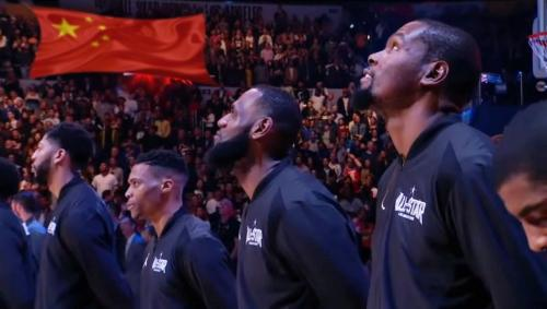 Humor? NBA Now Requiring All Players To Stand For Chinese National Anthem