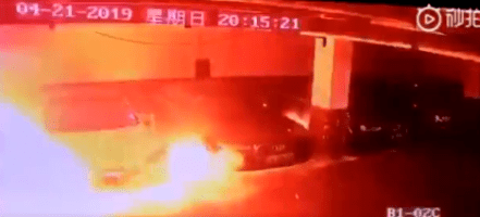 Image result for tesla fire china