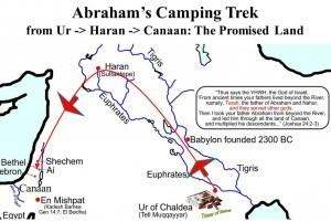 这张地图揭示了亚伯拉罕的旅程