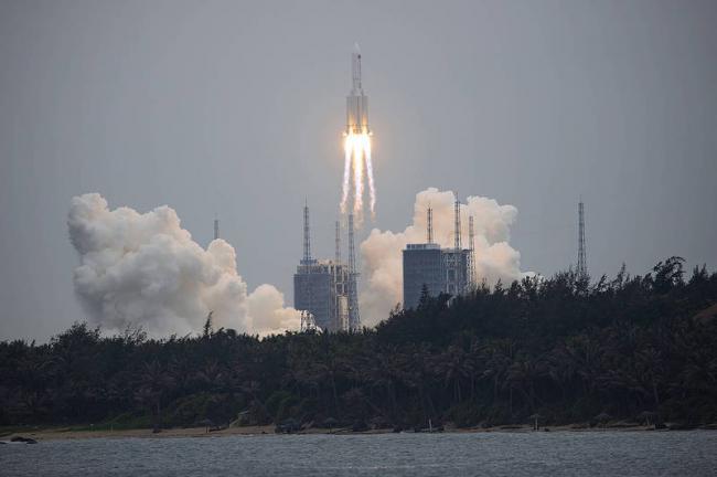中國長征火箭失控墜落中 墜落地點無法預測