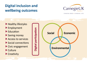 Digital inclusion social inclusion Social inclusion in a time of social distancing Carnegie UK digital inclusion wellbeing outcomes 300x222
