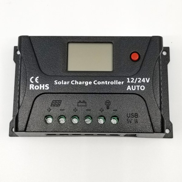 20a solar charge controller with lcd display