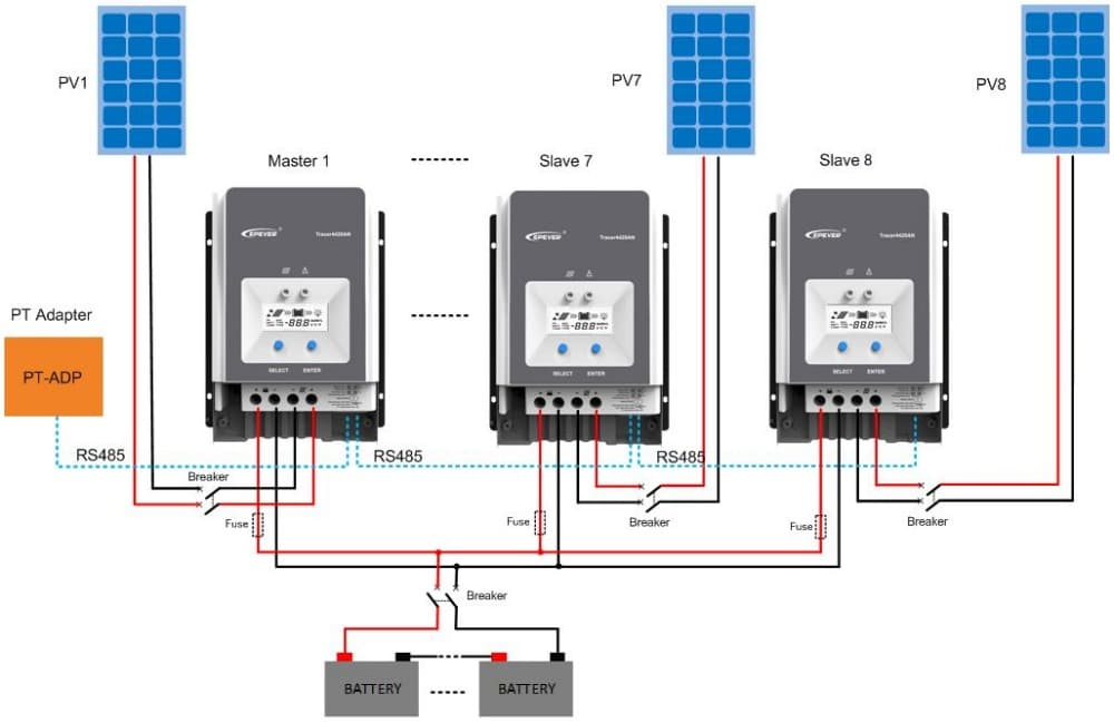 100 amp solar charge controller wired in parallel wiring diagram
