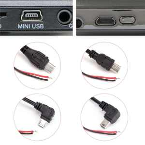 2*1.18in Micro/Mini USB Hard Wired Car Charger Power Inverter Converter For Tablet Phone DVR Recorder GPS 9