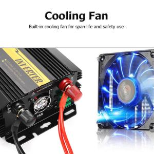 Dual USB Max 6000 Watts 3000W Power Inverter DC 12 V to AC 220 Volt Car Adapter Charge Converter Modified Sine Wave Transformer 8