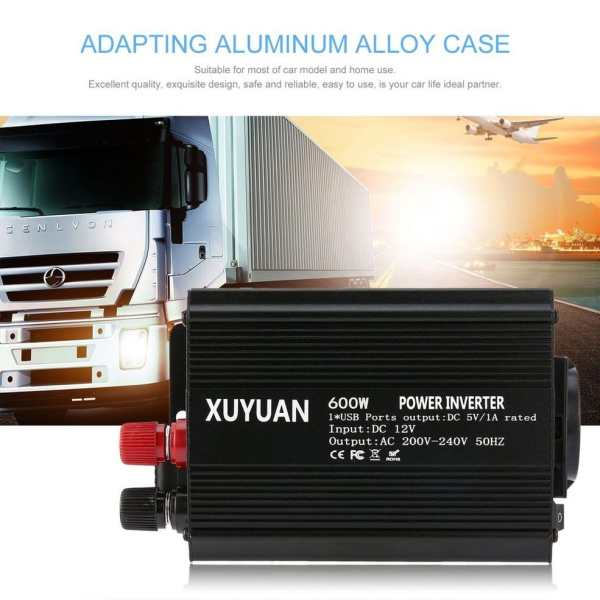 Professional 600W USB Power Inverter DC 12V to AC 220V with LED Indicator Car Converter for Household Appliances 3