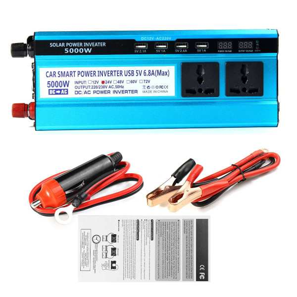 Solar Inverter DC 12V 24V 48V to AC 220V 3000W 4000W 5000W Inverter 6