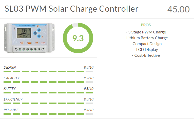 SL03 PWM Solar Charge Controller