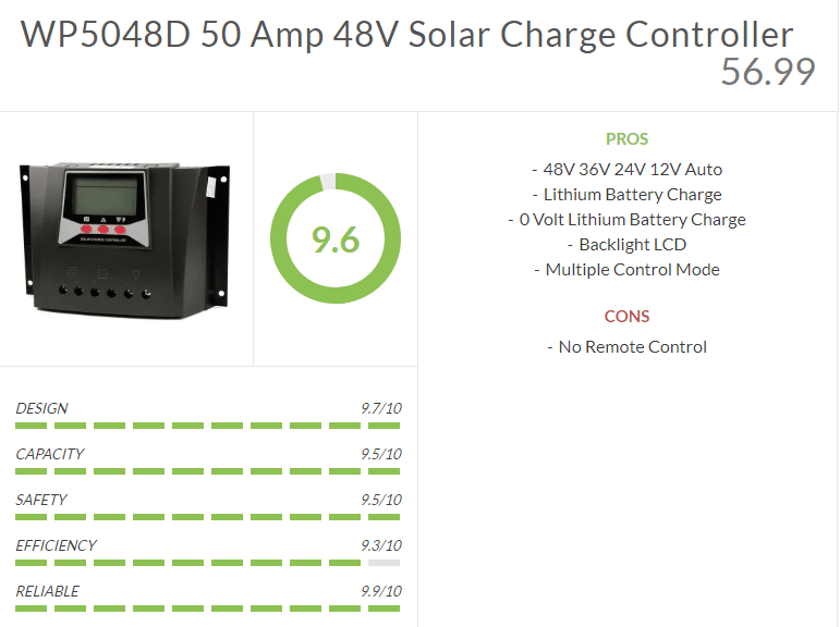 WP5048D Solar Charge Controller