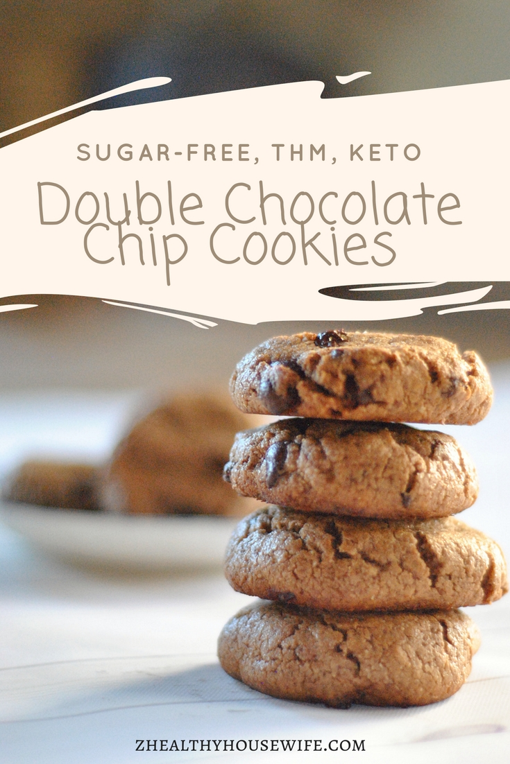 double choco chip cookies