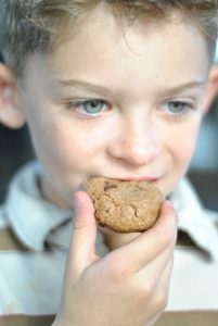 justus and choco chip cookie
