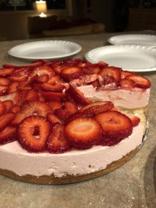 double strawberry cheesecake
