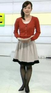 鈴木奈穂子 黒ストッキング