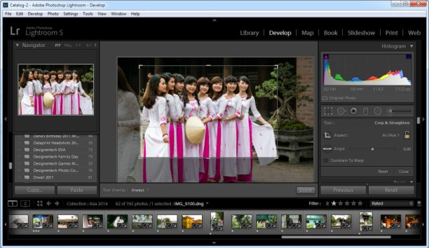 Example of Cropping in Lightroom