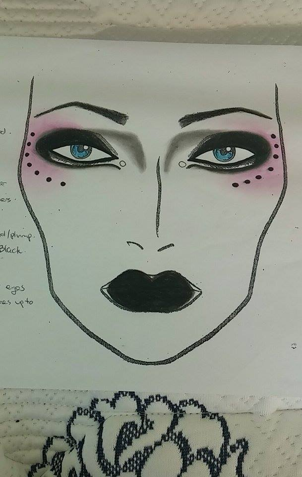 Makeup face chart by Lisa Robb