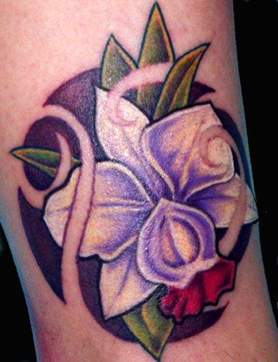 Keyword Galleries: Color Tattoos, Original Art Tattoos, Flower Tattoos,