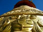 Huge Buddhist prayer wheel