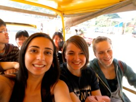 So, Maga (from Brazil), Theresa (from Germany) and Emma (not pictured) decided to hop on a bus to go ride bikes in Yangshuo