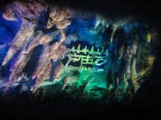"""The tail-end of the """"4D"""" movie shown on the cave wall"""