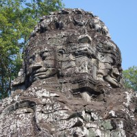 Cambodia Day 1 - The temple of four faces, Bayon Temple