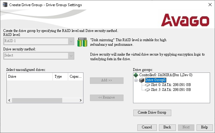 z_Create Virtual Drive_Raid 1