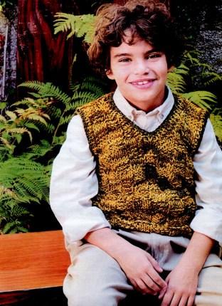 жилет для мальчика 10 11 лет вязание на спицах журнал