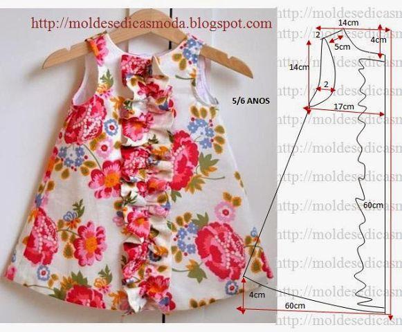 5594f992b63 Выкройка платья для девочки 5-6 лет (Шитье и крой) – Журнал ...