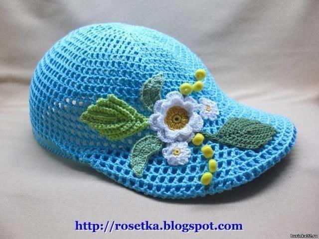 Летняя кепка для девочки (Вязание крючком)