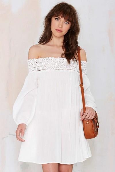 Выкройка летнего платья с открытыми плечами (Шитье и крой)