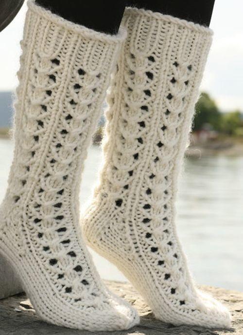 ажурный узор для вязания носков на 5 спицах узоры спицами