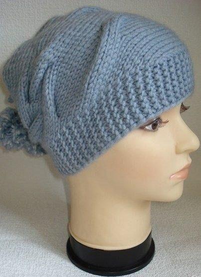 Интересная, модная шапочка (Вязание спицами)