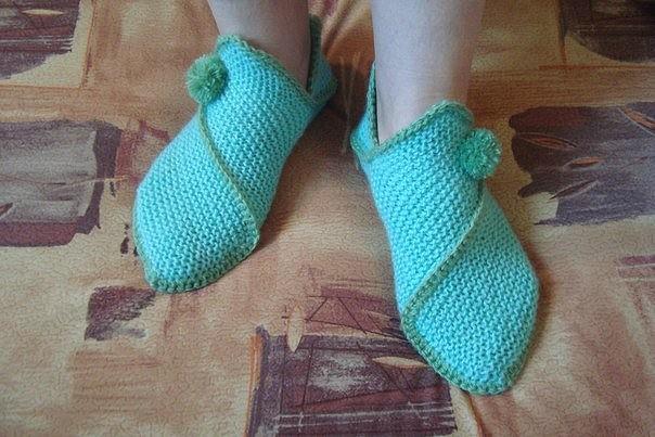 Необычные носочки без вязания пятки (Вязание спицами)
