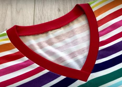 Обработка V-образной горловины (подборка видео) (Шитье и крой)