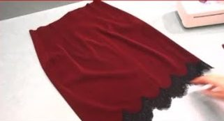 Чудесная юбка с завышенной талией и  кружевом (Шитье и крой)