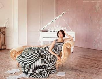 Фортепианный Дуэт София Сахнова И Антонина Лузько В Платьях L-Alix Collections (4)
