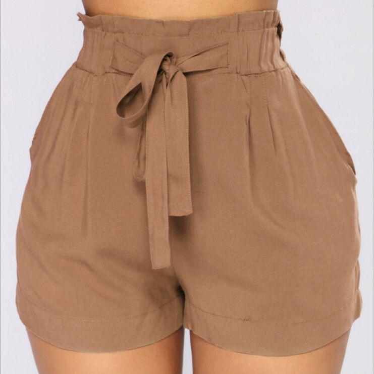 Loose-Shorts-Women-Bandage-Belt-Casual-Shorts-High-Waist-Summer-Stylish-Short-Trousers-For-Women