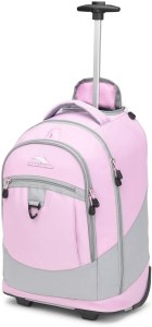 High Sierra Chaser Wheeled Laptop Backpack, Iced Lilac/Ash, 20 x 13.5 x 8-Inch