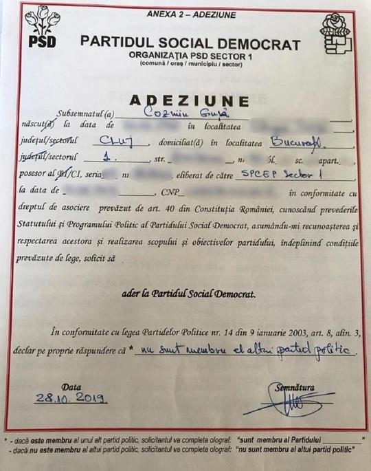 Adeziune PSD Cozmin Gusa