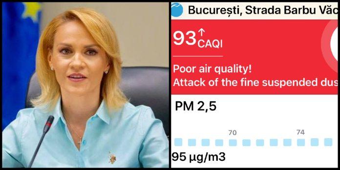 Gabriela Firea, poluare Bucuresti
