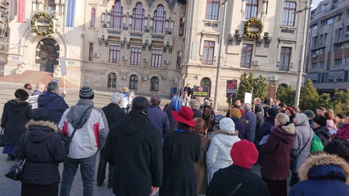 5G protest Craiova