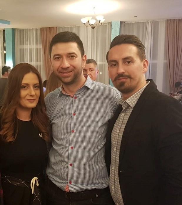 Ruiu Alin împreună cu senatorul PSD Radu Cosmin Preda și deputat PSD Eliza-Mădălina Peța