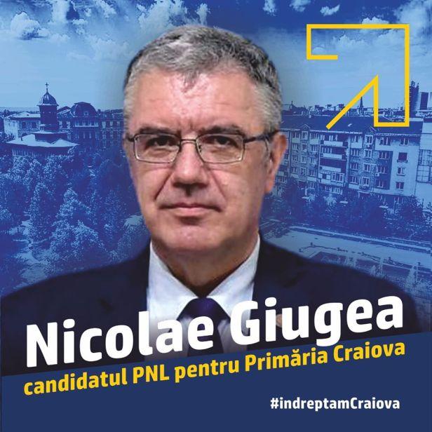 Deputatul PNL Nicolae Giugea, candidat pentru Primăria Craiova și unul dintre binefăcătorii Mitropoliei Olteniei