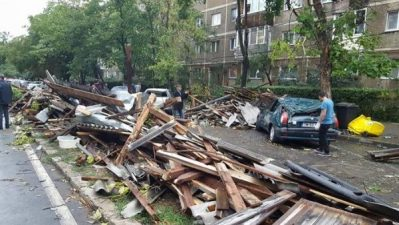 Pagube estimate la 232.630 lei pentru instituțiile publice hunedorene, după furtuna din 17 septembrie